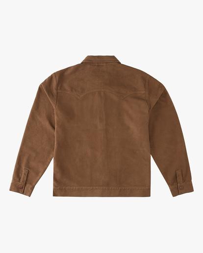 5 Wrangler Maverick Moleskin Jacket Brown ABYJK00129 Billabong