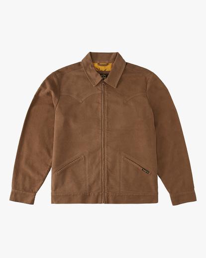 4 Wrangler Maverick Moleskin Jacket Brown ABYJK00129 Billabong