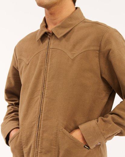3 Wrangler Maverick Moleskin Jacket Brown ABYJK00129 Billabong
