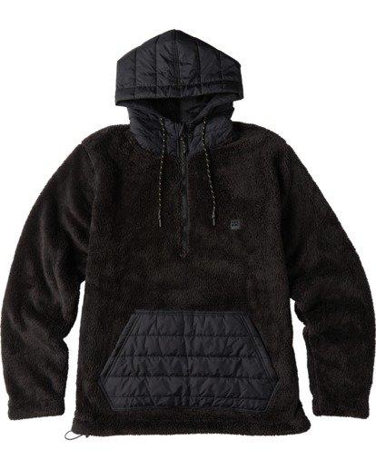 4 A/Div Badger Half Zip Hoodie Black ABYKT00100 Billabong
