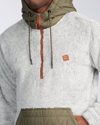 3 Badger Half Zip Hoodie Grey ABYKT00100 Billabong