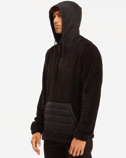 1 A/Div Badger Half Zip Hoodie Black ABYKT00100 Billabong