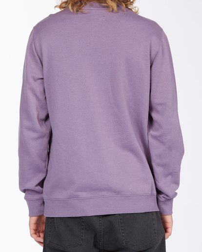 3 Wave Wash Crew Neck Pullover Purple ABYKT00112 Billabong