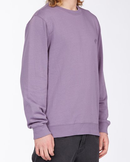 2 Wave Wash Crew Neck Pullover Purple ABYKT00112 Billabong