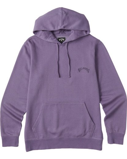 3 Wave Washed Pullover Hoodie Purple ABYKT00113 Billabong