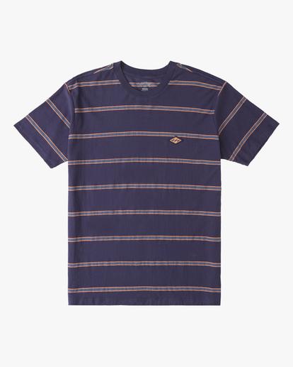 4 Die Cut Crew Neck T-Shirt Blue ABYKT00118 Billabong