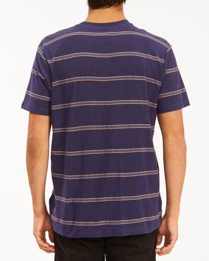 2 Die Cut Crew Neck T-Shirt Blue ABYKT00118 Billabong