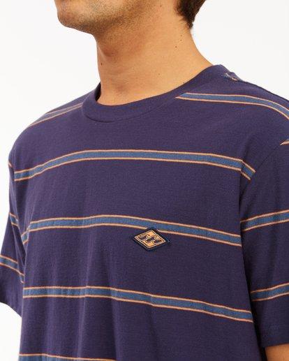3 Die Cut Crew Neck T-Shirt Blue ABYKT00118 Billabong