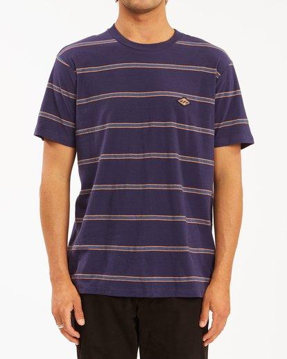 0 Die Cut Crew Neck T-Shirt Blue ABYKT00118 Billabong