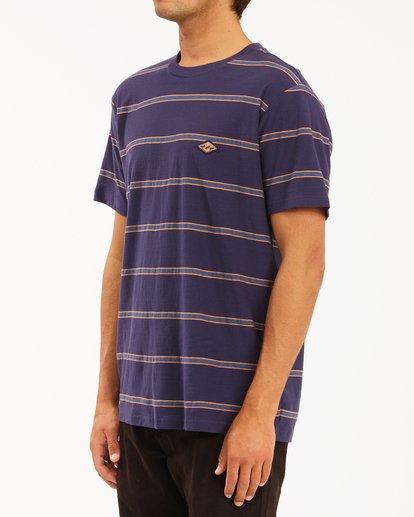 1 Die Cut Crew Neck T-Shirt Blue ABYKT00118 Billabong