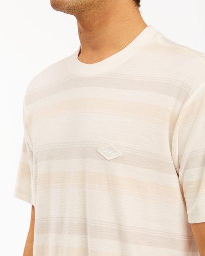 3 Die Cut Crew Neck T-Shirt White ABYKT00118 Billabong