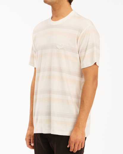 1 Die Cut Crew Neck T-Shirt White ABYKT00118 Billabong