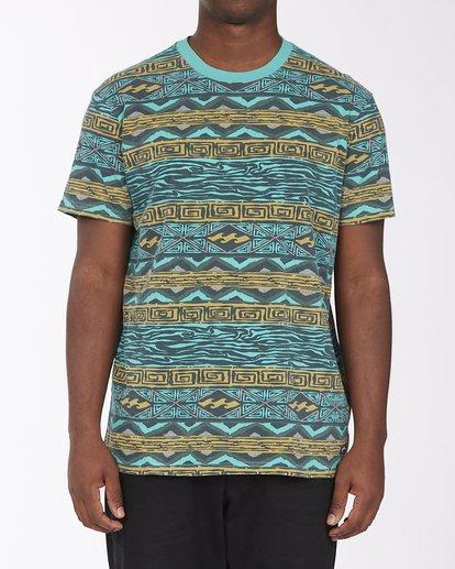 0 Halfrack Crew Neck Short Sleeve T-Shirt Green ABYKT00122 Billabong
