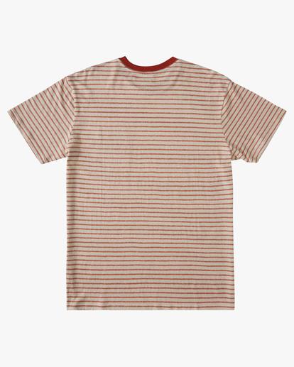 1 A/Div El Dorado Hemp Stripe Crew T-Shirt Red ABYKT00123 Billabong