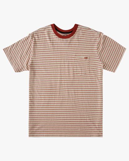 0 A/Div El Dorado Hemp Stripe Crew T-Shirt Red ABYKT00123 Billabong