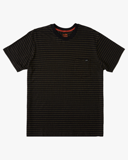 3 A/Div El Dorado Hemp Stripe Crew T-Shirt Black ABYKT00123 Billabong