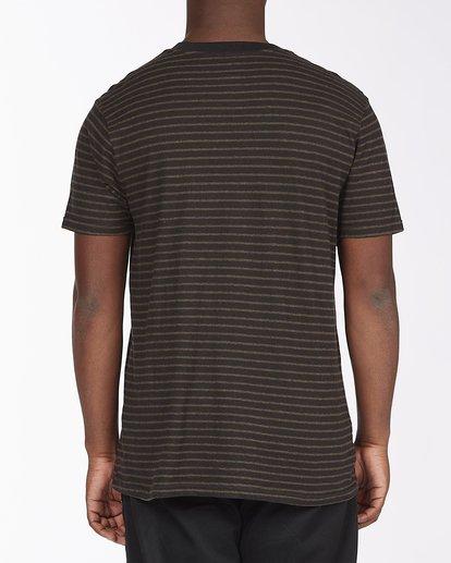 2 A/Div El Dorado Hemp Stripe Crew T-Shirt Black ABYKT00123 Billabong