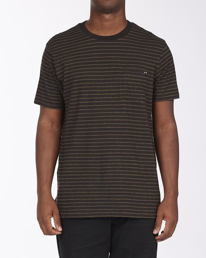 0 A/Div El Dorado Hemp Stripe Crew T-Shirt Black ABYKT00123 Billabong