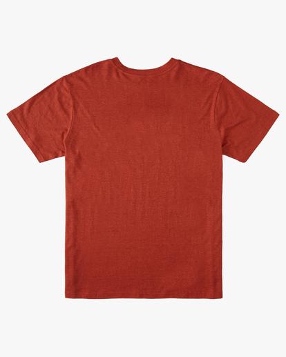 5 A/Div Arch Hemp Short Sleeve T-Shirt Red ABYKT00129 Billabong