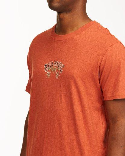 3 A/Div Arch Hemp Short Sleeve T-Shirt Red ABYKT00129 Billabong