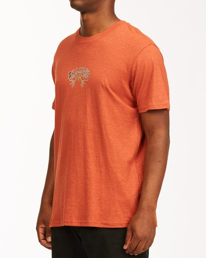 1 A/Div Arch Hemp Short Sleeve T-Shirt Red ABYKT00129 Billabong