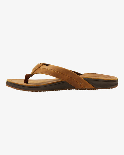 2 BRUNSWICK LEATHER THONG Brown ABYL100008 Billabong