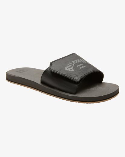 0 All Day Impact Print Slide Sandals Black ABYL100012 Billabong