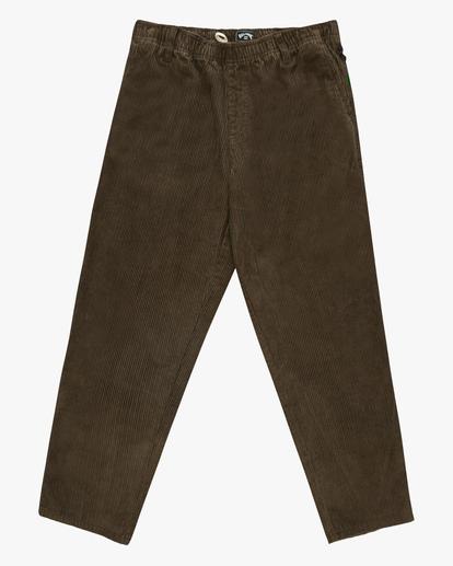 5 Wrangler Bowie Layback Corduroy Pants White ABYNP00105 Billabong