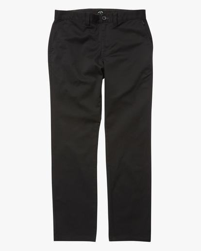 4 Carter Stretch Chino Pants Black ABYNP00110 Billabong