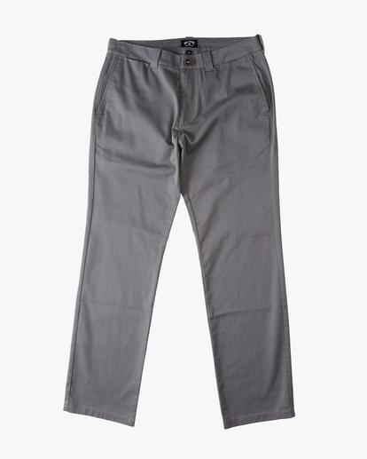 4 Carter Stretch Chino Pants Grey ABYNP00110 Billabong