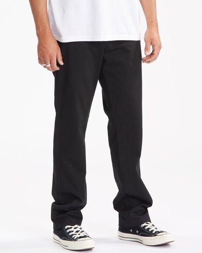 2 Carter Stretch Chino Pants Black ABYNP00110 Billabong