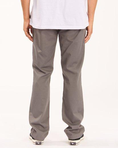 3 Carter Stretch Chino Pants Grey ABYNP00110 Billabong
