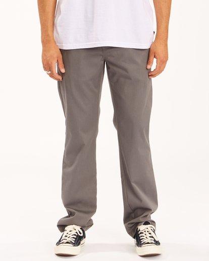 0 Carter Stretch Chino Pants Grey ABYNP00110 Billabong