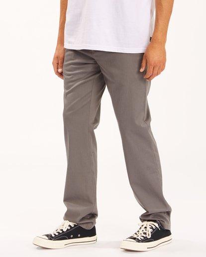 1 Carter Stretch Chino Pants Grey ABYNP00110 Billabong