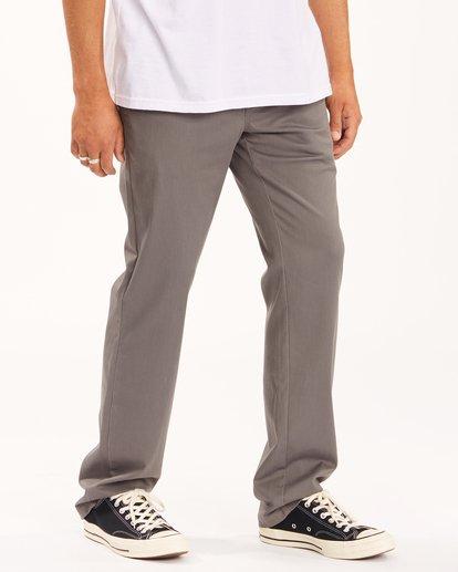 2 Carter Stretch Chino Pants Grey ABYNP00110 Billabong