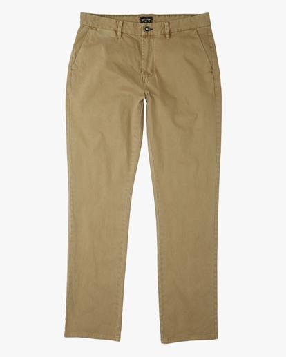 4 73 Slim Fit Chino Pants Brown ABYNP00111 Billabong