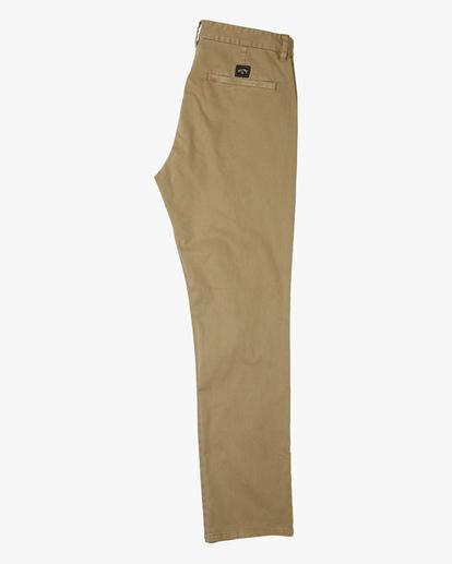 5 73 Slim Fit Chino Pants Brown ABYNP00111 Billabong
