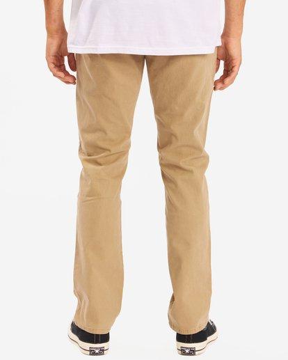 3 73 Slim Fit Chino Pants Brown ABYNP00111 Billabong