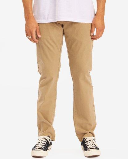 0 73 Slim Fit Chino Pants Brown ABYNP00111 Billabong