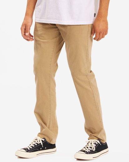 1 73 Slim Fit Chino Pants Brown ABYNP00111 Billabong