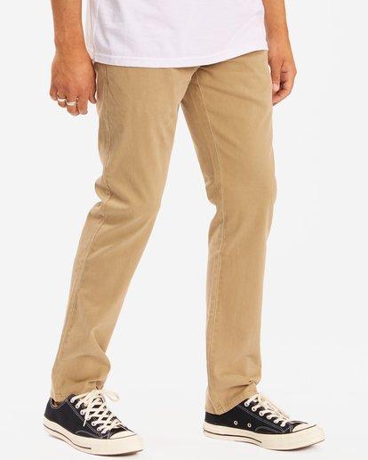 2 73 Slim Fit Chino Pants Brown ABYNP00111 Billabong