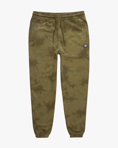 4 Wave Washed Tie-Dye Sweatpants Green ABYNP00117 Billabong