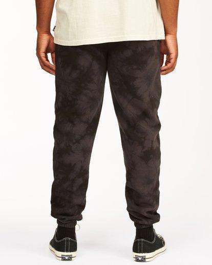 3 Wave Washed Tie-Dye Sweatpants Black ABYNP00117 Billabong