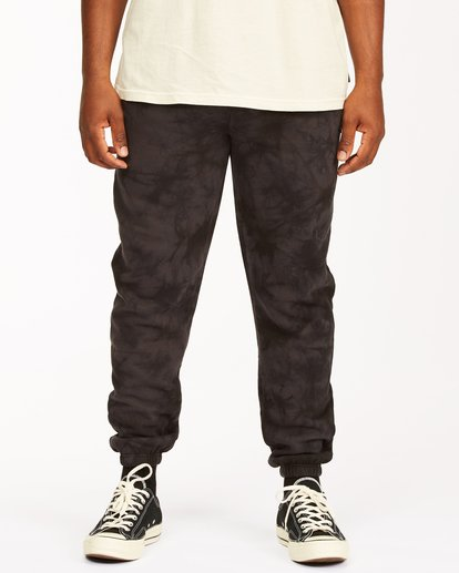 0 Wave Washed Tie-Dye Sweatpants Black ABYNP00117 Billabong