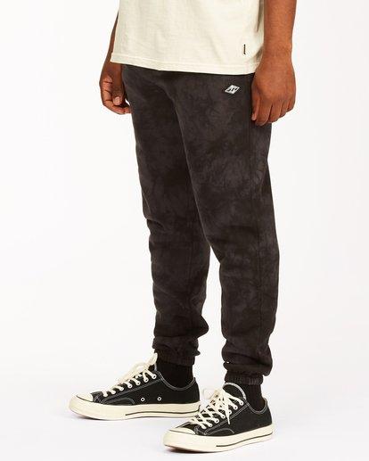1 Wave Washed Tie-Dye Sweatpants Black ABYNP00117 Billabong