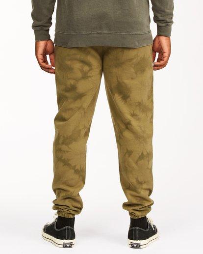 3 Wave Washed Tie-Dye Sweatpants Green ABYNP00117 Billabong