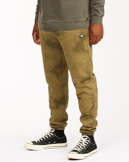 1 Wave Washed Tie-Dye Sweatpants Green ABYNP00117 Billabong