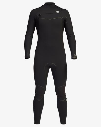 1 4/3 Furnace Chest Zip Full Wetsuit Black ABYW100116 Billabong