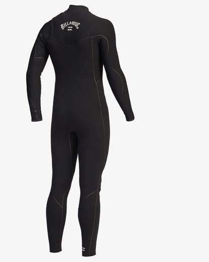 2 4/3 Furnace Chest Zip Full Wetsuit Black ABYW100116 Billabong