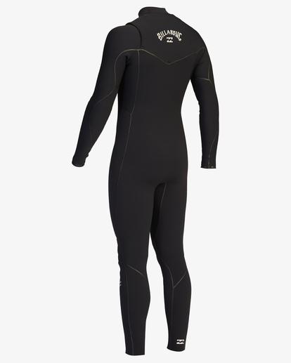 4 4/3 Furnace Chest Zip Full Wetsuit Black ABYW100116 Billabong